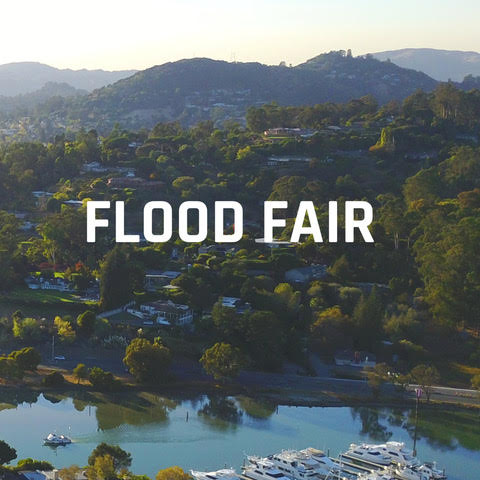 Arial photo of San Rafael Canal with Flood Fair copy superimposed